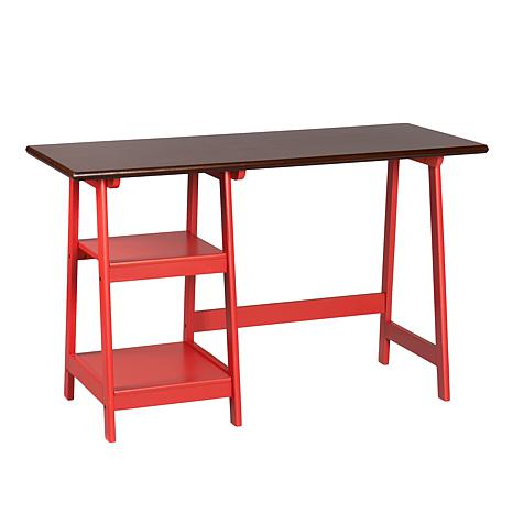 Southern Enterprises Bridgeport Desk - Red/Espresso