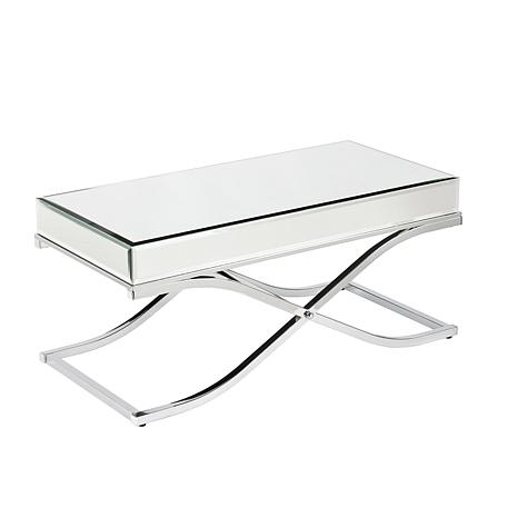 Southern Enterprises Callista Mirrored Cocktail Table