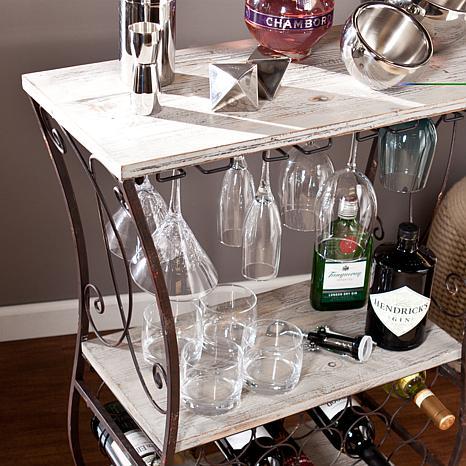 Southern Enterprises Chandler Wine Storage Table   8296596 | HSN