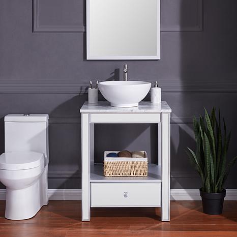 Southern Enterprises Penford Mirrored Vanity Sink
