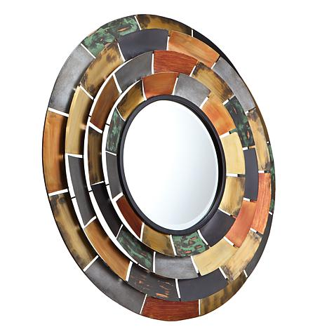 Southern Enterprises Trenton Round Decorative Mirror