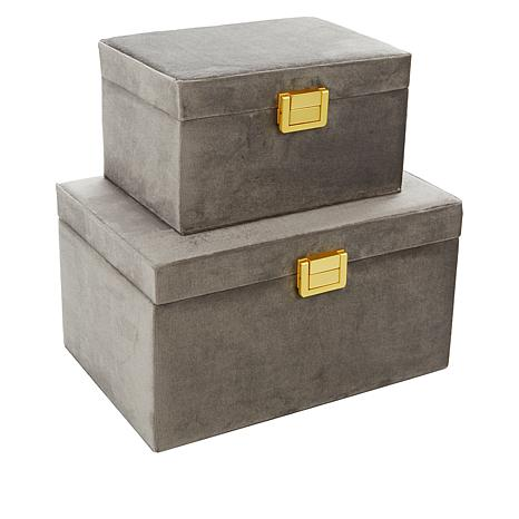 SouthStreet Loft Set of 2 Velvet Jewelry Boxes