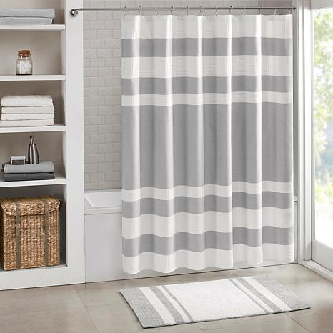 """Spa Waffle Shower Curtain with 3M Treatment - Gray/72"""""""