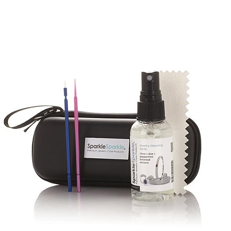 Sparkle Sparkle Jewelry Cleaning Travel Kit with Zippered Case