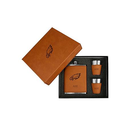 the best attitude 61040 d9284 Sparo Brown Philadelphia Eagles Personalized Flask and Shot Set