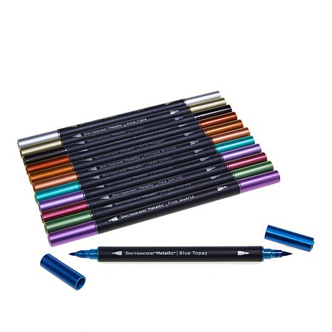 Spectrum noir metallic markers 12 piece 8690255 hsn for American crafts metallic marker