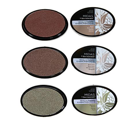 Spectrum Noir Midas 3-pack Metallic Pigment Inks Set