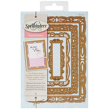 Spellbinders Nestabilities Dies - Romantic Rectangles 2