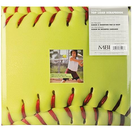 Sport and Hobby Post Bound Album 12X12 - Fast Pitch