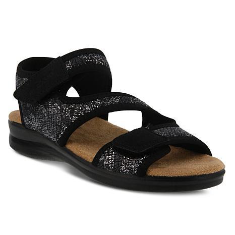 Spring Step Flexus Yrutta Metallic-Print Sport Sandal