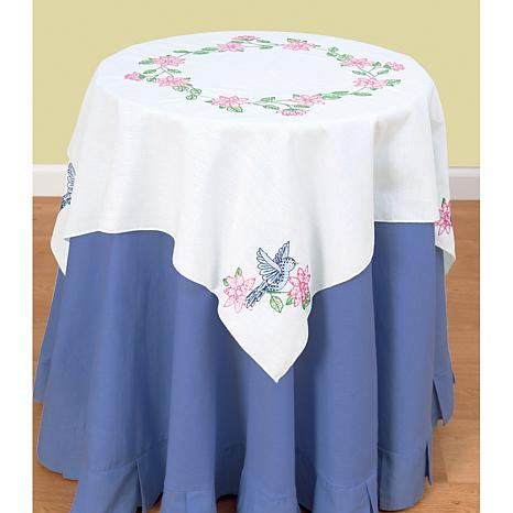 Stamped White Perle Edge Table Topper