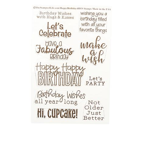 Stamps of Life Birthday Sentiments Stamps - Set of 10