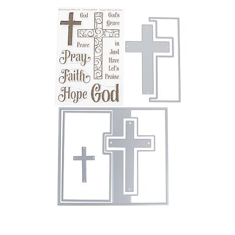 Stamps of Life Cross Flip-It Die Set and 15 Clear Stamps