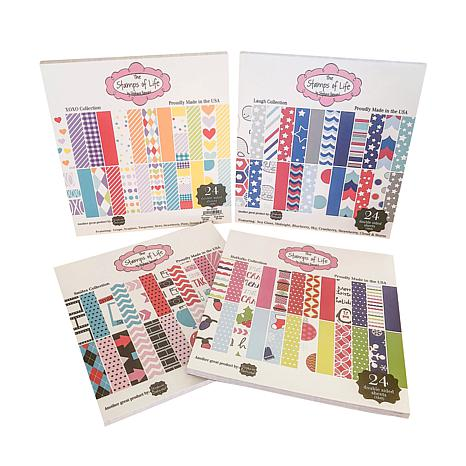 Stamps of Life Patterned Paper Pad 4-pack
