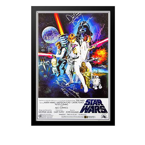 Star Wars New Hope Cast Signed Movie Poster