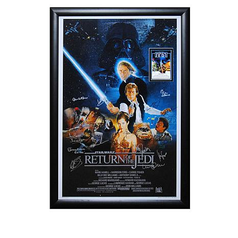 Star Wars Return of the Jedi Cast-Signed Movie Poster