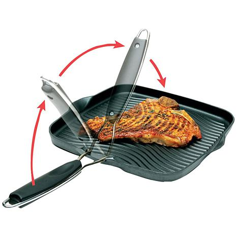 Starfrit 10 Quot Square Grill Pan With Foldable Handle
