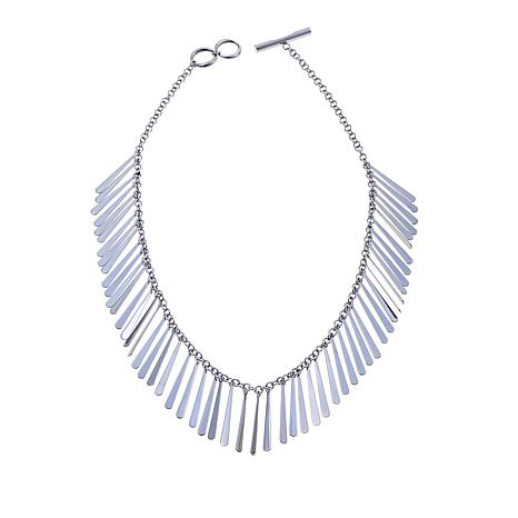 "Stately Steel ""Fringe"" 17-1/2"" Necklace"