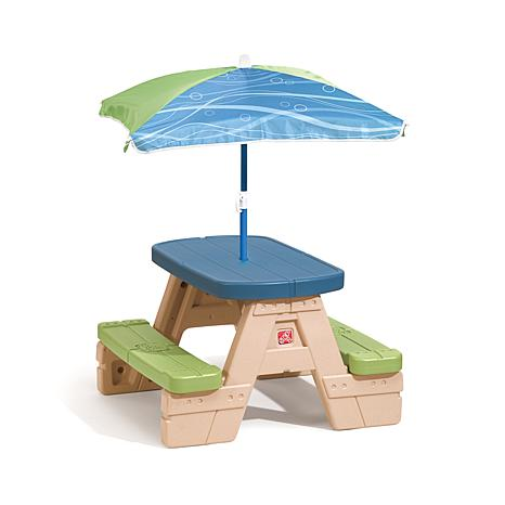 step 2 Sit-and-Play Picnic Table with Umbrella