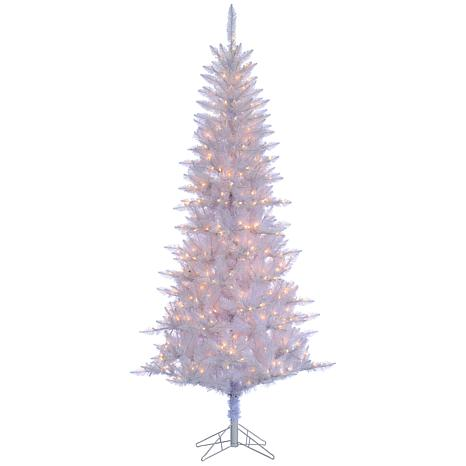 sterling 7 12 white tiffany tinsel lighted christmas tree - Christmas Tree Tinsel