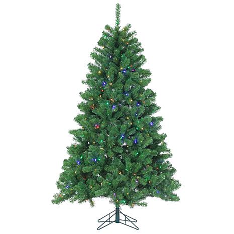 Sterling 7' Multicolor LED-Lighted Montana Pine Tree