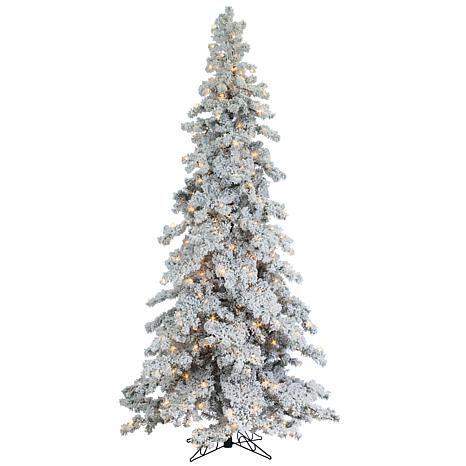 Sterling 9 Heavy Flocked Spruce Lighted Christmas Tree