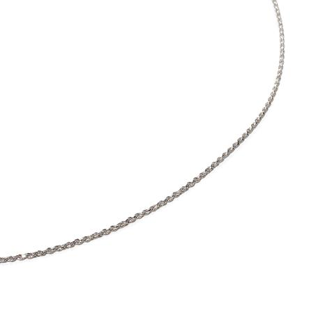 "Sterling Silver Adjustable 1.25mm Popcorn 30"" Chain"