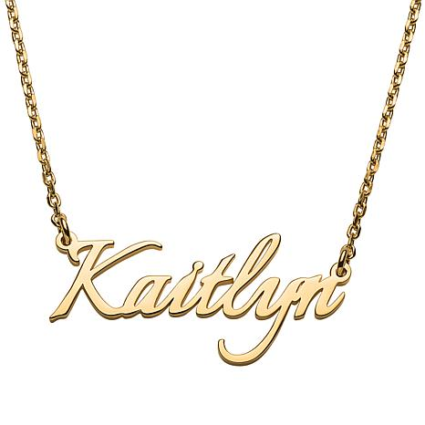 Sterling Silver Petite Fancy Script Name Necklace