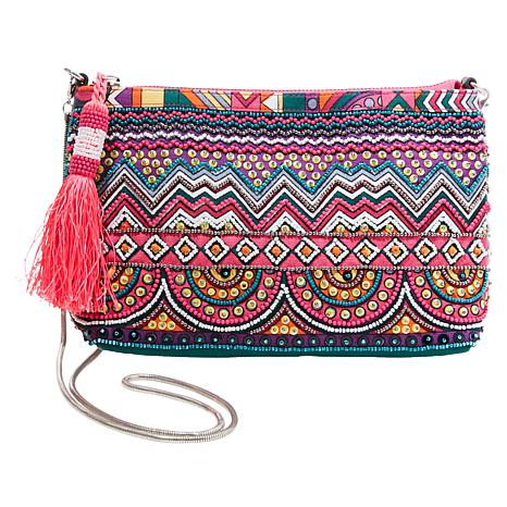 luxury fashion first rate double coupon Steven by Steve Madden Beaded Crossbody Clutch Handbag