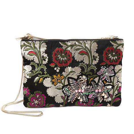 Steven by Steve Madden Flower Clutch