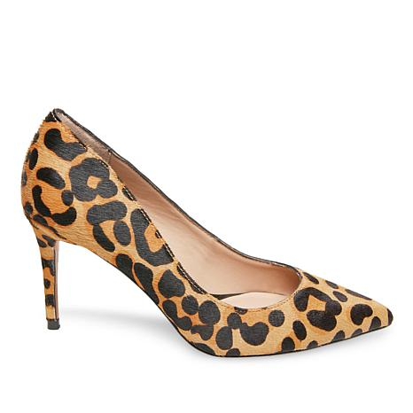 on feet images of many fashionable look for Steven by Steve Madden Local Leopard-Print Hair Calf Pump ...