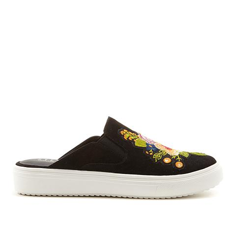 Steven Natural Comfort Lora Embroidered Sneaker Mule
