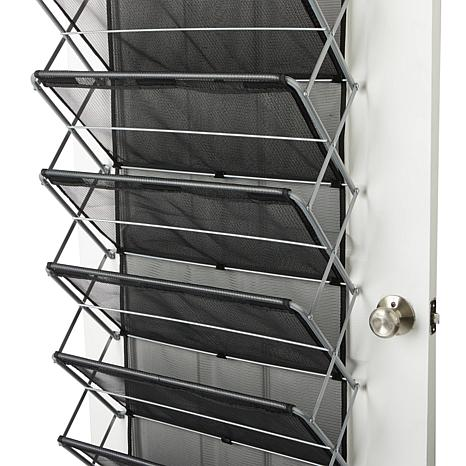 storesmith over the door shoe rack 8572659 hsn - Over The Door Shoe Rack