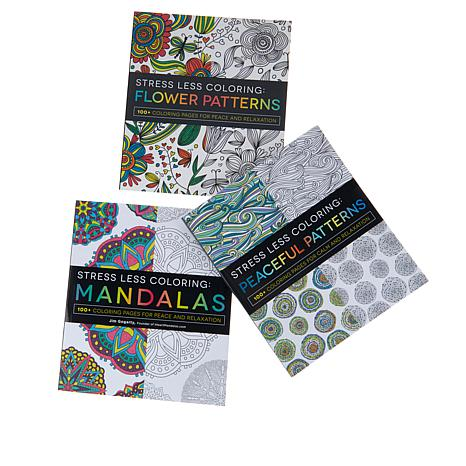 Stress Less 3 Piece Coloring Book Bundle
