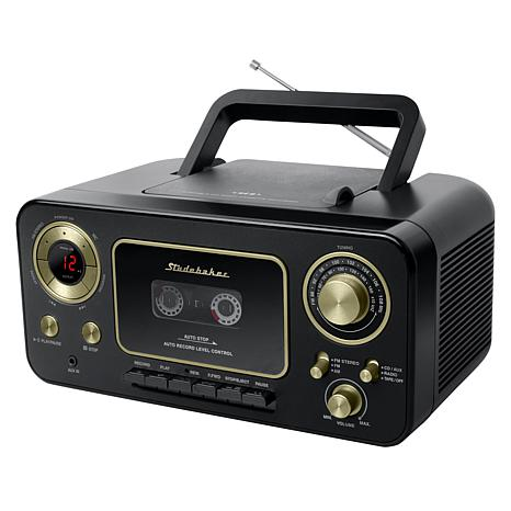 Studebaker Portable CD Player with Radio and Cassette Player/Recorder