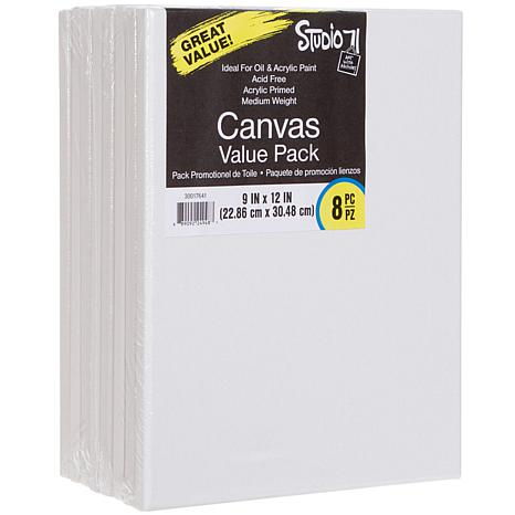 """Studio 71 Stretched Canvas 8-pack  - 9"""" x 12"""""""