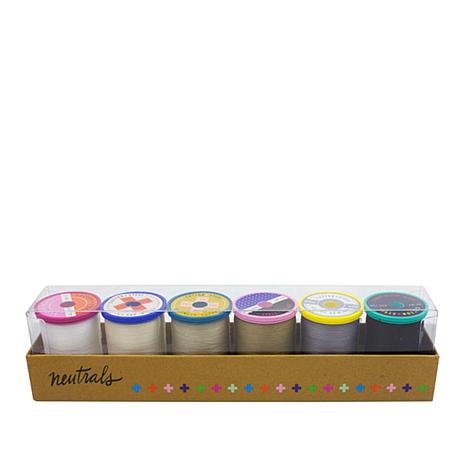 Sulky Cotton + Steel 50wt Thread 6-pack - Neutral