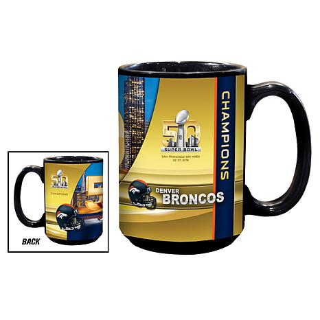 Super Bowl 50 Champions 15 oz. Ceramic Black Mug 2-pack