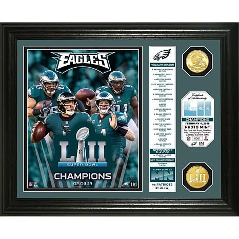 Super Bowl LII Champs Banner Bronze Coin Photo Mint - Eagles