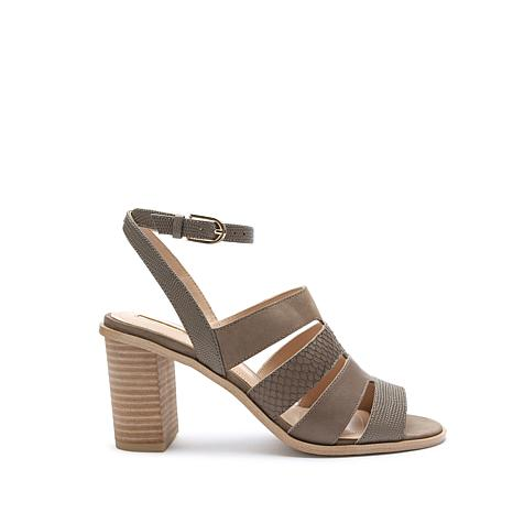 Tahari Fairhaven Embossed Leather Sandal