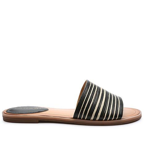 Tahari Padma Leather One-Band Slide Sandal