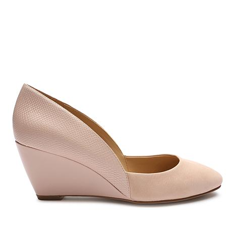 Tahari Palace Leather Wedge Pump