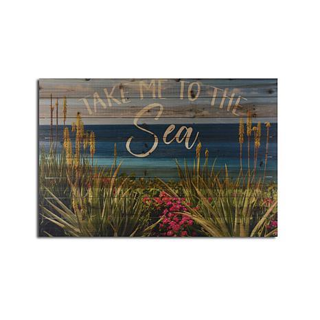 Take Me to the Sea 24x36 Print on Wood