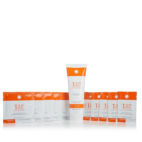 TanTowel® 10pc Self-Tanning Kit w/On The Glow - Classic