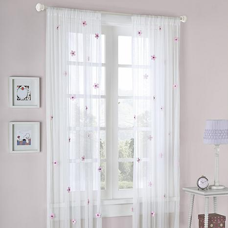 Taylor 63-inch Window Panel - White/Pink