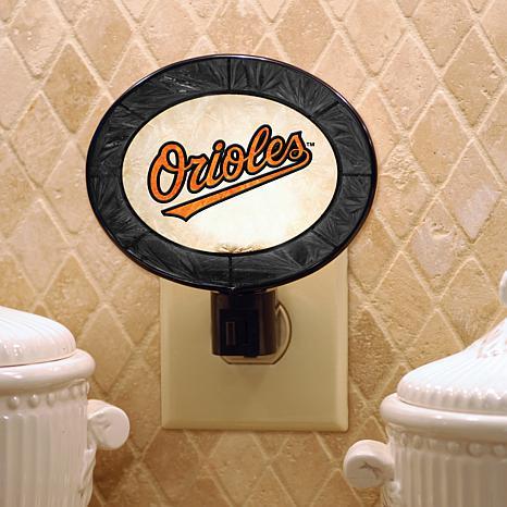 Team Glass Nightlight - Baltimore Orioles