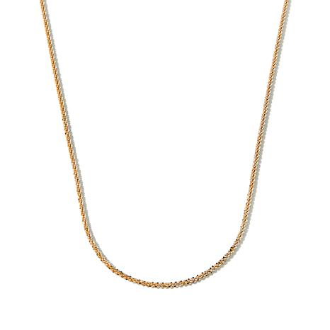 "Technibond® 2-Tone 18"" Glitter Chain Necklace"