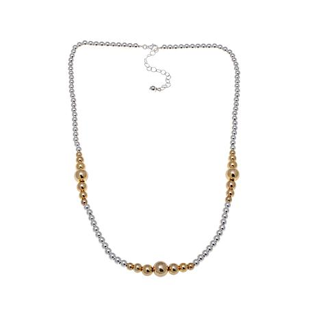 "Technibond® 2-tone Graduated Bead 18"" Necklace"