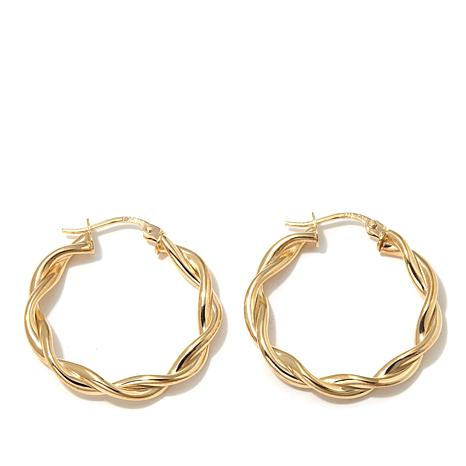 Technibond® 26mm Medium Twisted Hoop Earrings