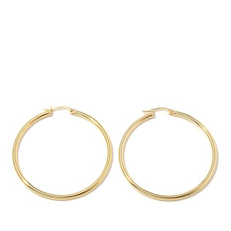 Technibond® 41mm Large Polished Hoop Earrings